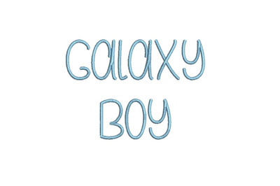 Galaxy Boy 15 sizes  embroidery font (MHA)