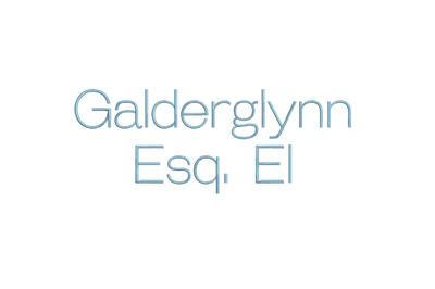 Galderglynn Esq EL 15 sizes embroidery font (RLA)