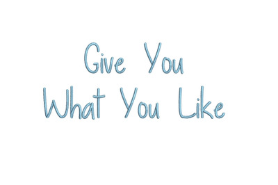 Give You What You Like 15 sizes embroidery font (MHA)