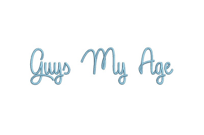 Guys My Age 15 sizes embroidery font (MHA)