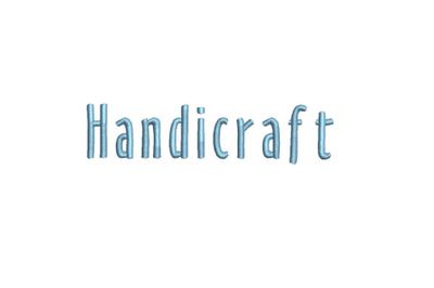 Handicraft 15 sizes embroidery font