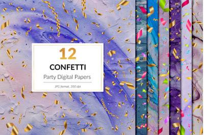 Party Digital Paper - Gold Confetti