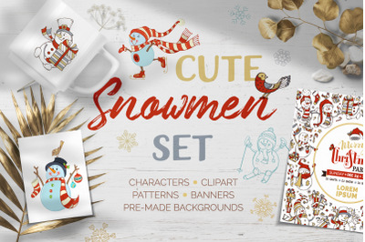 Cute Snowmen Set