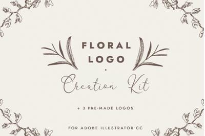 Floral Logo Creation Kit