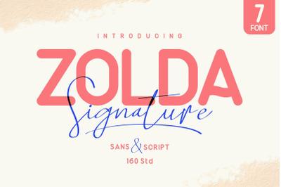 Zolda Font Family | 7 Fonts