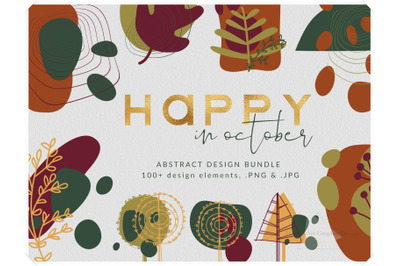 Modern Abstract Design Bundle - Happy in October