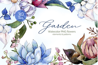 Bouquet of flowers bloom watercolor png