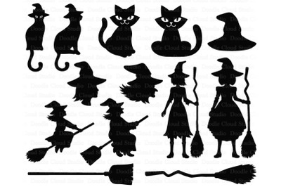 Witch SVG, Halloween SVG, Halloween Decoration SVG, PNG.