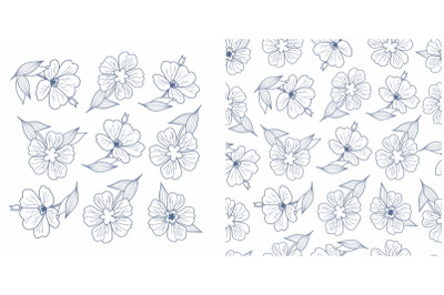 Floral seamless pattern. Flowers. Elements and pattern. Design element