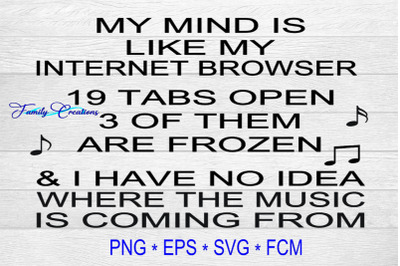 My Mind Is Like My Internet Browser