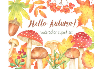 Hello Autumn Watercolor Set