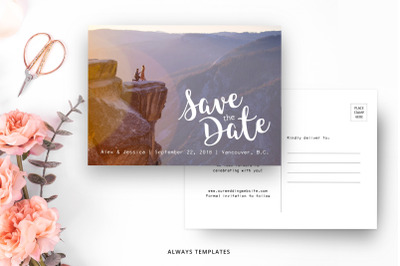 Save the Date Template SD009