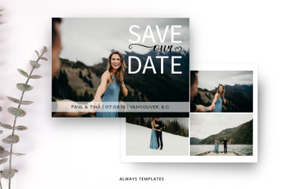 Save the Date Template SD010