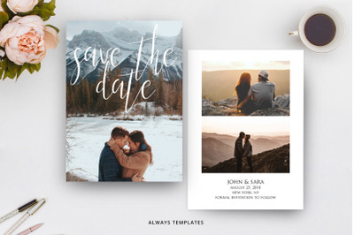 Save the Date Template SD011