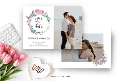 Save the Date Template SD012