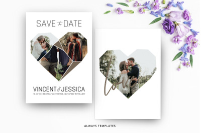 Save the Date Template SD016