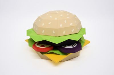 DIY Hamburger - 3d papercraft