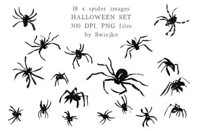 Halloween set, Spiders