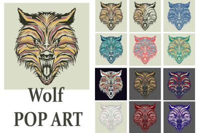 Wolf Pop Art