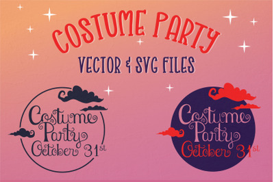 Costume Party Halloween vector & SVG files