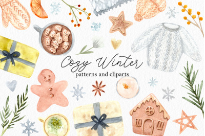Watercolor Cozy Winter Collection