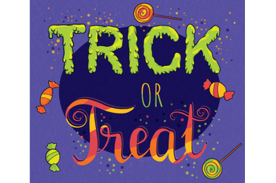 Trick or Treat Halloween Vector Sublimation Design