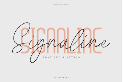 Signaline // Font Duo + Extras