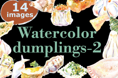 Watercolor dumplings set-2