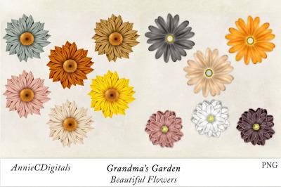 Flower Clip Art, Daisy Clip Art, Grandmas Garden