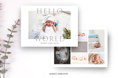 Birth Announcement Template BA001