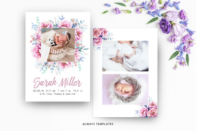 Birth Announcement Template BA003