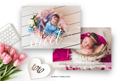 Birth Announcement Template BA004