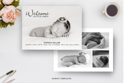 Birth Announcement Template BA005
