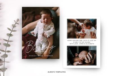 Birth Announcement Template BA006
