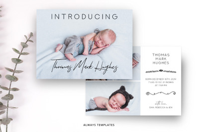 Birth Announcement Template BA007