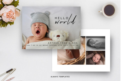 Birth Announcement Template BA008
