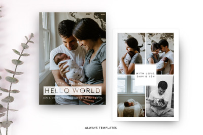 Birth Announcement Template BA009