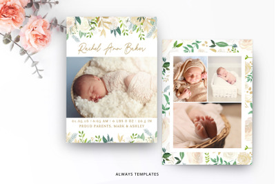 Birth Announcement Template BA010