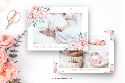 Birth Announcement Template BA011