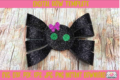 Halloween Spider Hair Bow Template. Svg. Dxf. Pdf. Eps. Jpg. Png