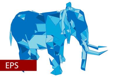 mosaics a elephant. abstract a elephant. pop art a elephant.