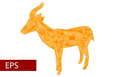 mosaics a Gazelle. abstract a gazelle.