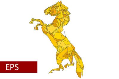 mosaics a horse. abstract a horse. pop art a horse. lowpoly a horse.