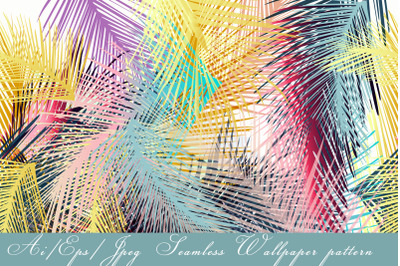 Tropical vector seamless pattern