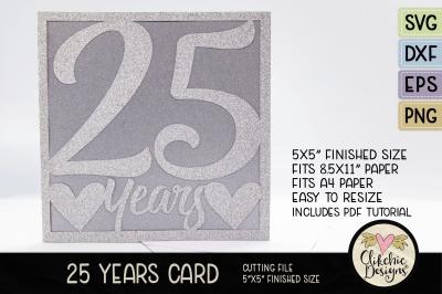 Anniversary Card / Birthday Card SVG