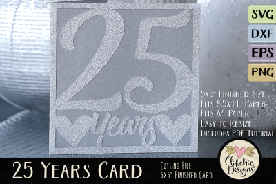 Anniversary Card / Birthday Card SVG