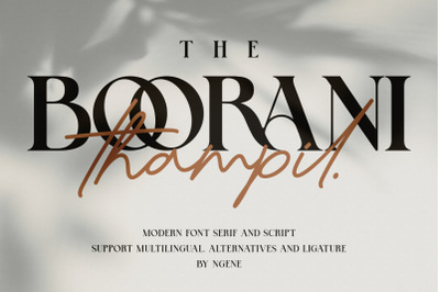 The Boorani Thampil (Font Duo)