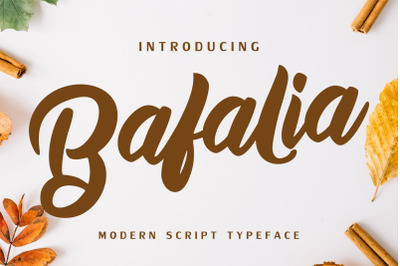 Bafalia - Modern Script Font