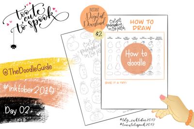 Inktober 2019 - Day 2: Pumpkins HOW TO DOODLE