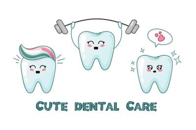 Kawaii happy teeth